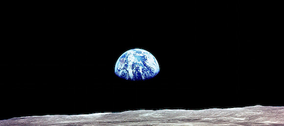 Pale Blue Dot Planet Earth Photo From Moon