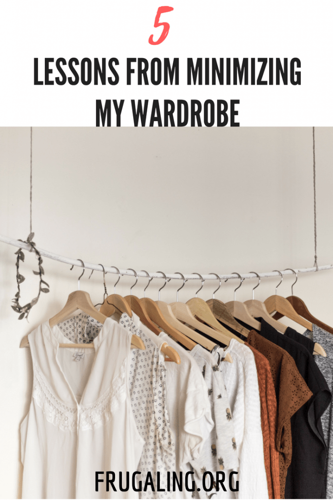 5 Lessons From Minimizing My Wardrobe. The day has come to minimize my wardrobe. After much delay and caution, I eliminated tens of items from my closet and feel lighter than ever!