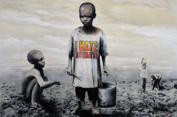Banksy I Hate Mondays Art