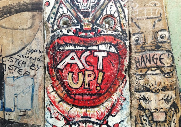 Act Up on Berlin Wall - Cold War