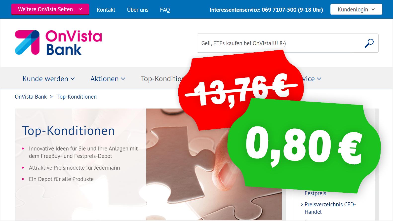 ETFs fast kostenlos kaufen mit OnVista Freebuys