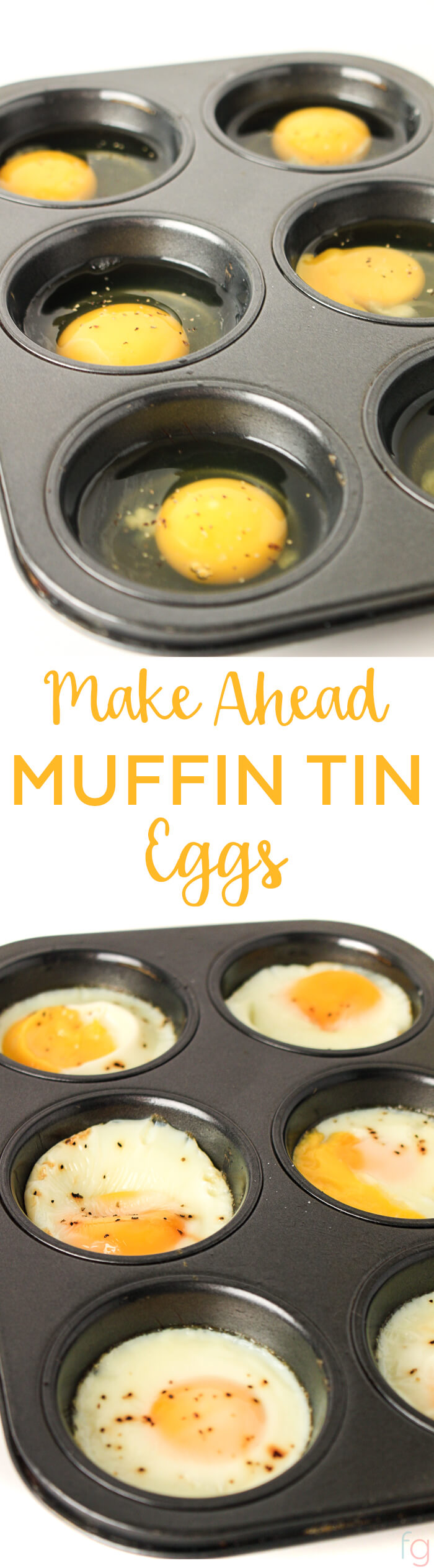 Make Ahead Breakfast - Meal Prep for the Week - Baked Eggs in Muffin Tin - Baked Eggs in Oven - Egg Cups Breakfast - Baked Egg Muffins - Make Ahead Meals