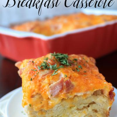 Bacon Egg and Cheese Casserole