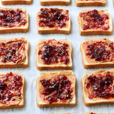 Freezer PB&J Sandwiches