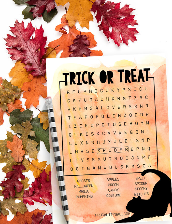 Halloween Party Game Idea: Free Halloween Word Search Printable