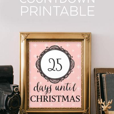 Free Christmas Countdown Printable
