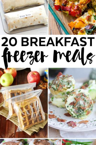 20 Breakfast Freezer Meals