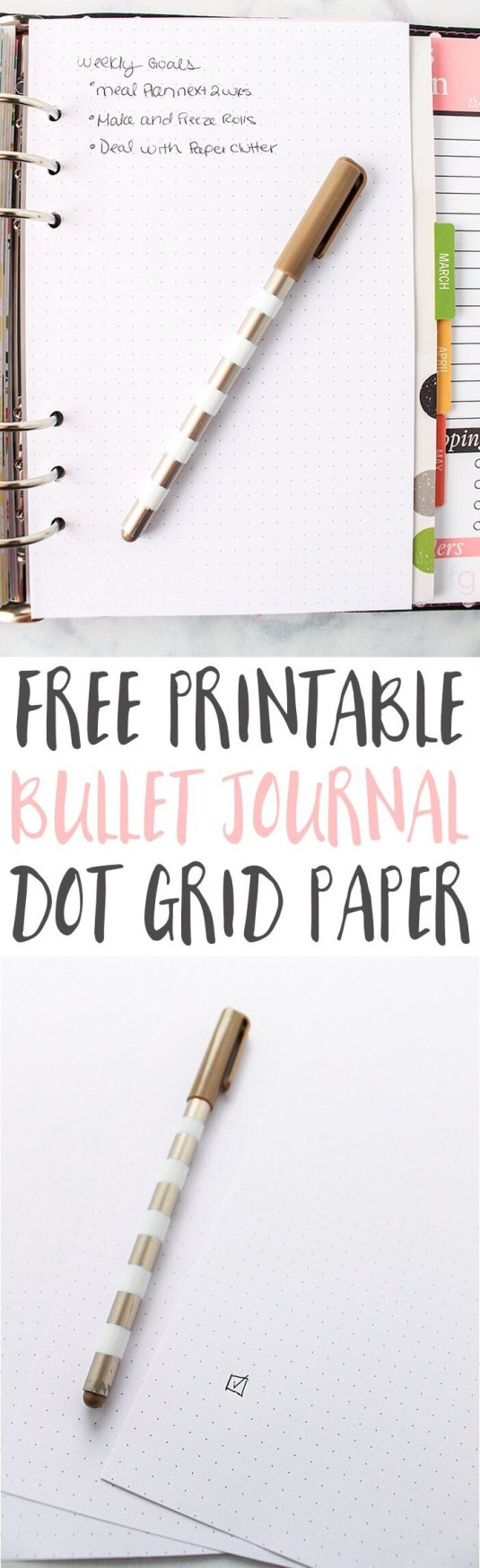 Free Dot Grid Paper Printable