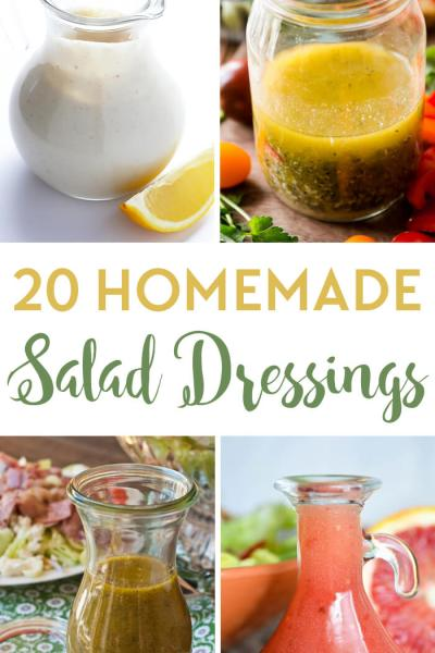20 Homemade Salad Dressing Recipes