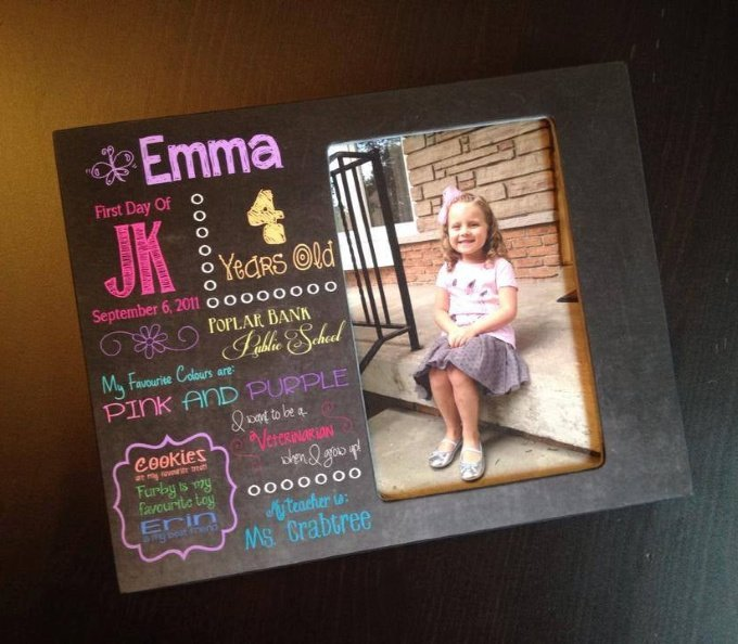 Back to School Keepsakes - Personalized First Day of School Frame