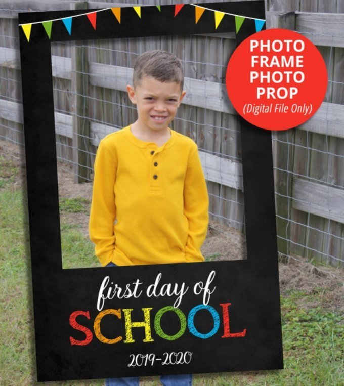 Back to School Signs - Classroom Sign Photo Frame