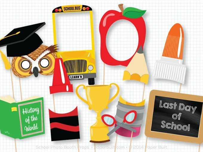 Back to School Signs Photo Booth Props
