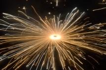 """Charkhi"" a rotating light spitting ground based cracker"