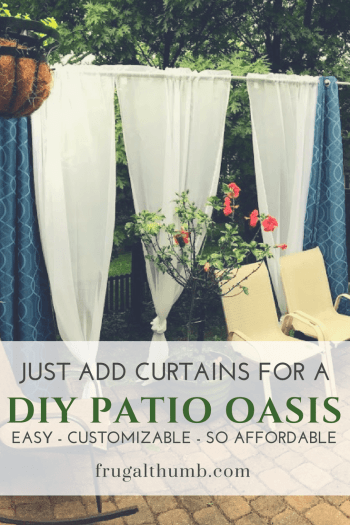 Just Add Curtains for DIY Patio Oasis - Easy - Customizable - So Affordable