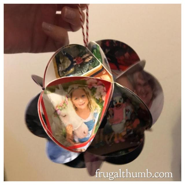 Finished Christmas card ornament