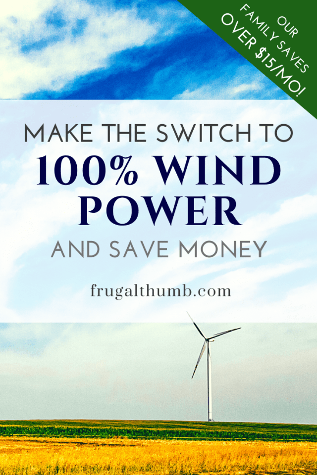 Switch to 100% Wind Power and Save Money