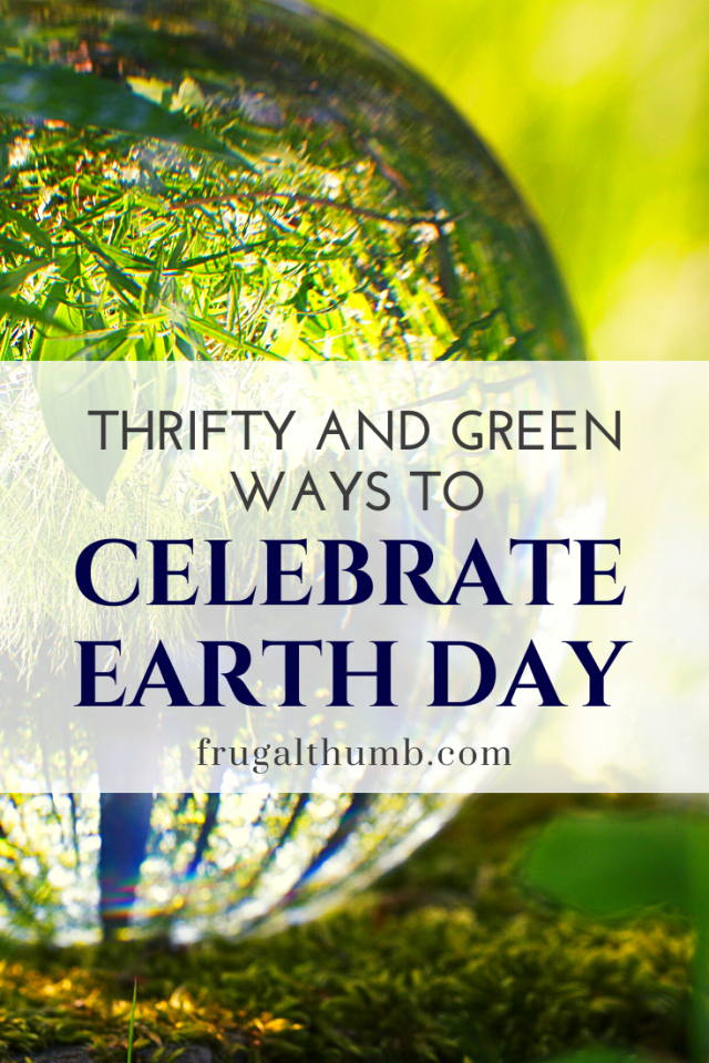 thrifty and green ways to celebrate Earth Day - pinterest
