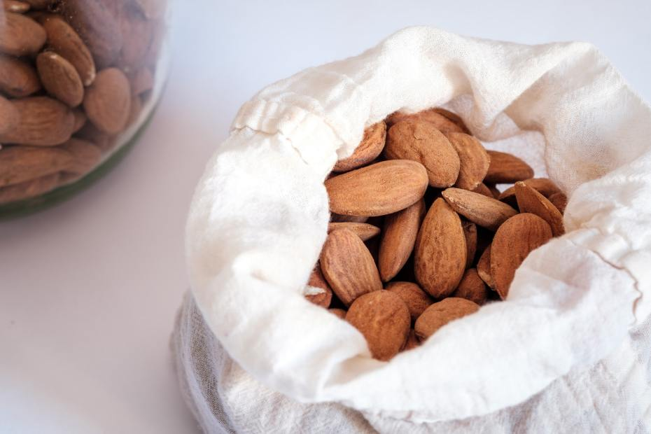 Photo of almonds in a bag