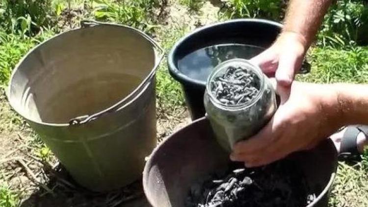 Приготовление зольно-мыльного раствора