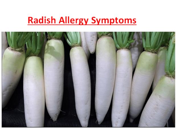 Radish Allergy Symptoms