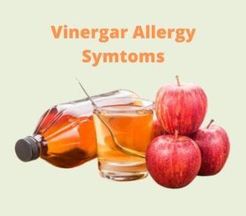 Vinergar Allergy Symtoms