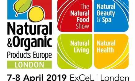 """2019. április 7-8-án, Londonban kerül megrendezésre a """"Natural & Organic Products Europe"""" elnevezésű kiállítás"""