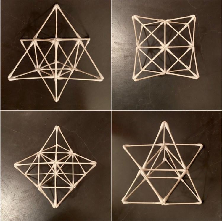 神聖幾何学 マカバ 綿棒アート