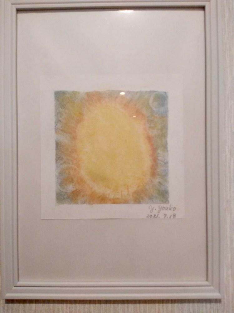 オレンジの光の絵