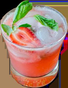 Strawberry and basil mojito