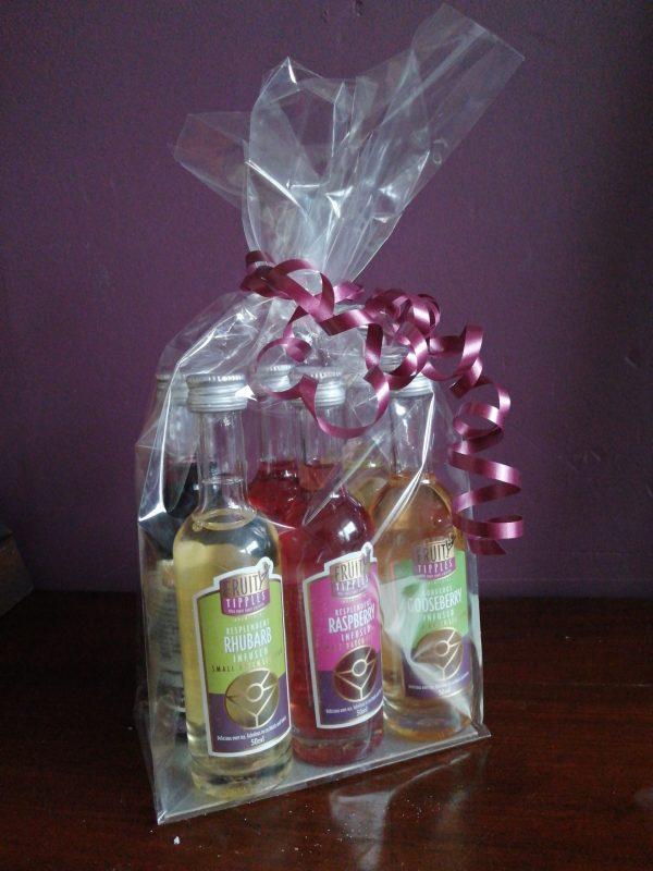 image of Fruity Tipples premium cocktail liqueurs miniature set