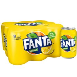 fanta refresco de limon pack 9 latas