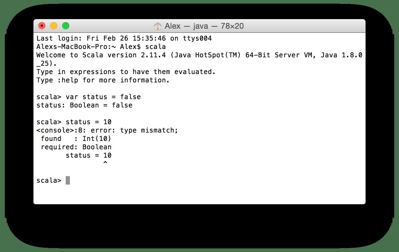 Scala Variables Amp Values