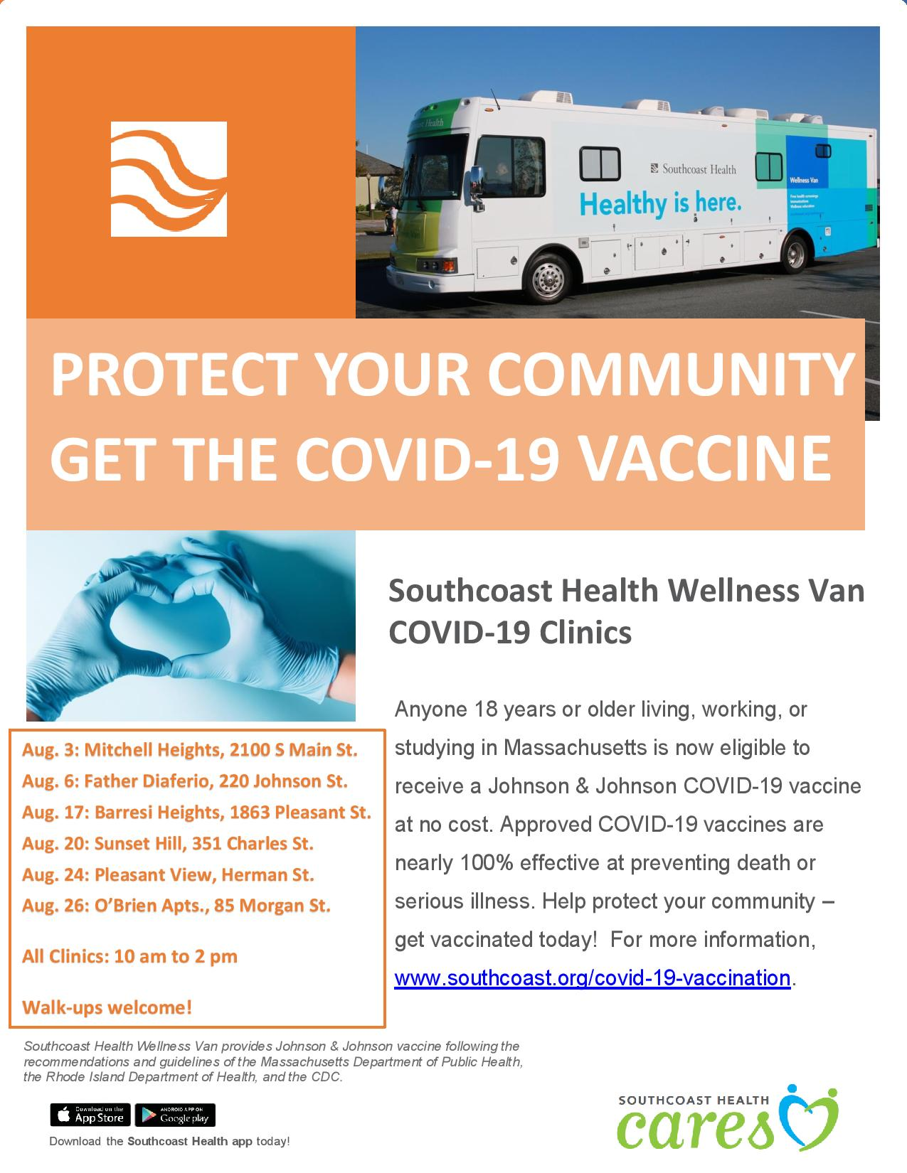 Vaccine Clinics at Fall River Housing Authority Locations