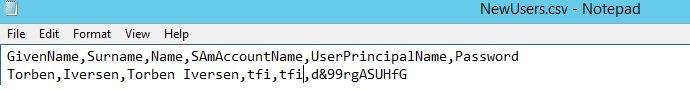 Bulk add Users csv