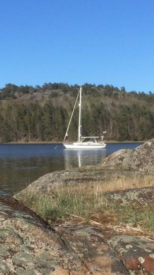 Anchoring in swedish archipelago
