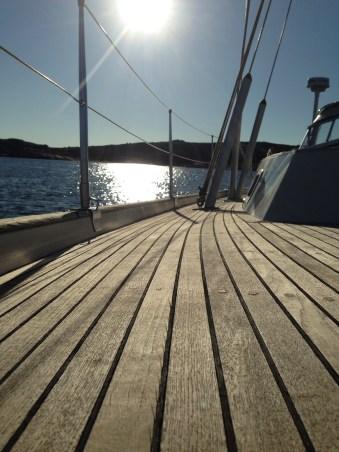 Warm teak deck