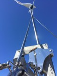 Two support rods attached to the wind generator tube