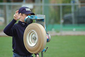 A pitching machine