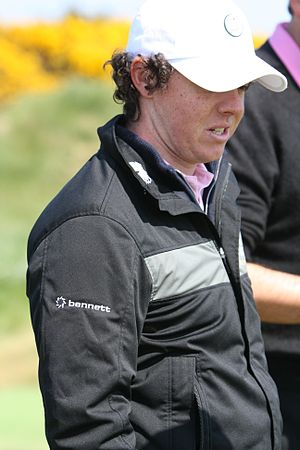 Profile portrait of Rory McIlroy, golfer from ...