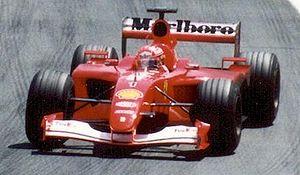 Michael Schumacher driving for Scuderia Ferrar...