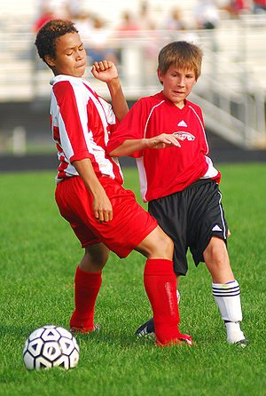 English: A Stanton Junior High soccer player e...