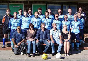 English: The Fernhurst Sports FC 1st Team with...