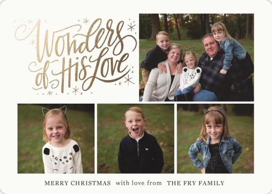 Fry, Party of Five Christmas Card 2018