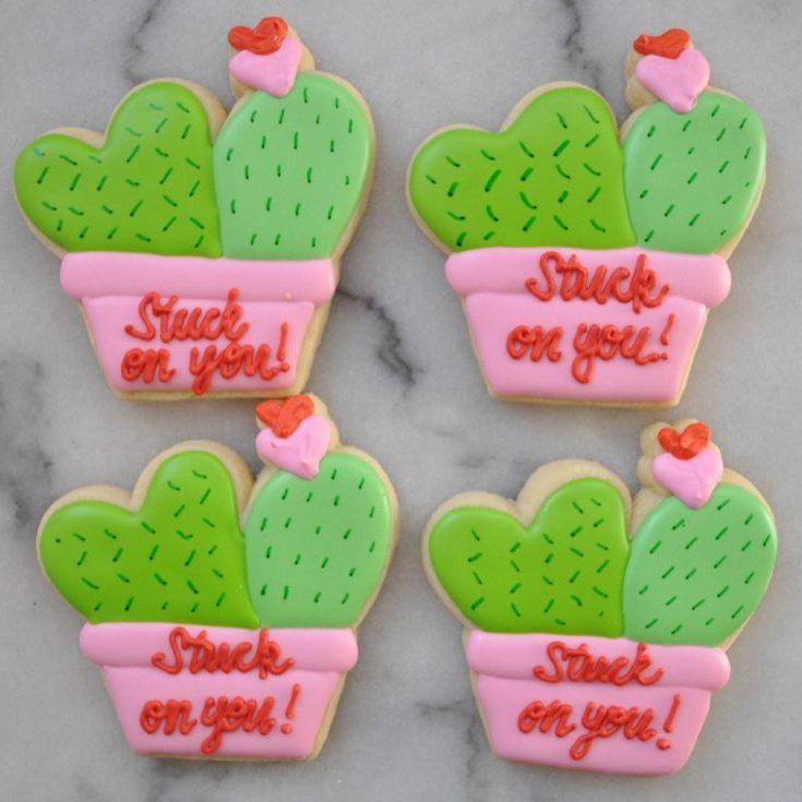 Cactus Valentine Cookies