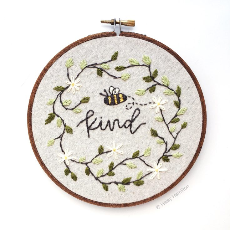 Bee Embroidery Hoop Decor