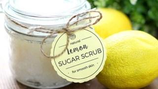 Easy DIY Lemon Sugar Scrub