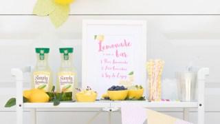 Lemonade Bar Cart Ideas. Best of summer all on one bar cart.