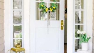 Spring Hoop Wreath with Lemons - Modern Glam - DIY