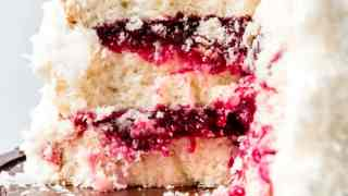 Holiday Cranberry Coconut Cake
