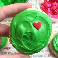 Yummy Grinch Sugar Cookies